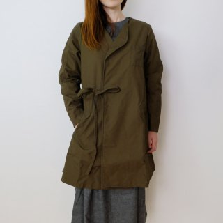the last flower of the afternoon | 秋霖(しゅうりん)のlong jacket (khaki) | ジャケット