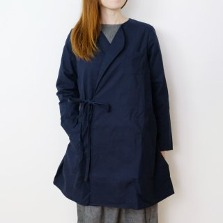 the last flower of the afternoon | 秋霖(しゅうりん)のlong jacket (navy) | ジャケット