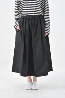 Cion   コットンギャザースカート (ブラック)   ボトムス