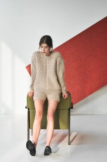 The Knotty Ones | HEARTBREAKER SWEATER (beige) | ニットセーター