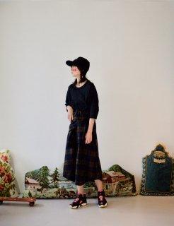STORAMA   Checked Bottondwn Skirt (brown)   スカート