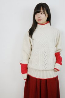 rikolekt | RELIEF SWEATER (white) | セーター