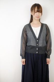 MB | LEVITA V neck Cardigan (charcoal) | アウター