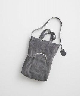 REN | ライニングスエード・ガマグチポケット2wayトート (midgray) | バッグ