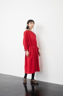 the last flower of the afternoon   夕べの祈り sack dress (carmine)   ワンピース