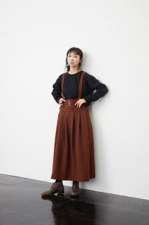 the last flower of the afternoon   深閑のover skirt (russet brown)   ボトムス