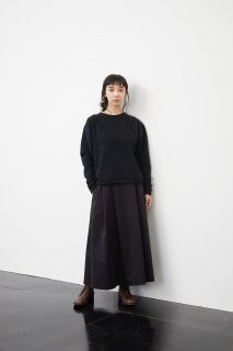 the last flower of the afternoon   夜を紡ぐ pullover knit (black grey)   トップス