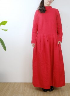 the last flower of the afternoon   夕べの祈り one-piece dress (carmine)   ワンピース