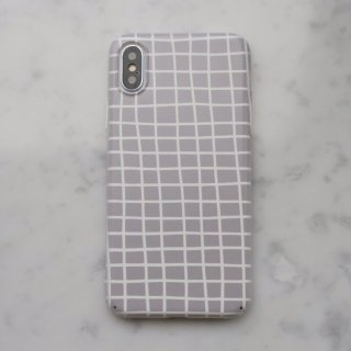 【ネコポス送料無料】DESSI DESIGNS | CROSS STRIPES / GRID (light grey) | iPhone 11 proケース