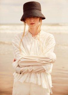 rikolekt | FRAGILE BLOUSE (white) | トップス【リコレクト ホワイト 白 ギンガム おしゃれ シンプル】