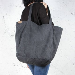 hairoo | LAZY CANVAS TOTE BAG (black) | トートバッグ