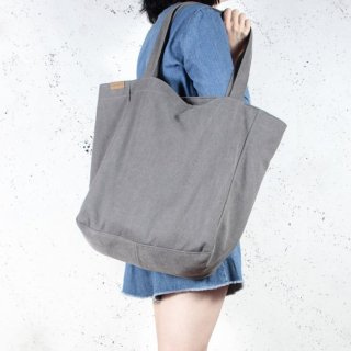 hairoo | LAZY CANVAS TOTE BAG (dark grey) | トートバッグ