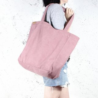 hairoo | LAZY CANVAS TOTE BAG (pink) | トートバッグ
