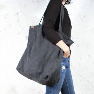 hairoo | BIG LAZY CANVAS TOTE BAG (black) | トートバッグ