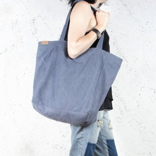 hairoo | LAZY CANVAS TOTE BAG (blue) | トートバッグ