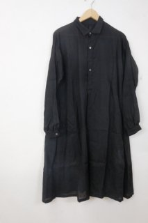 the last flower of the afternoon   透き影の pullover classic shirt dress (black)   ワンピース【きれいめ シンプル】