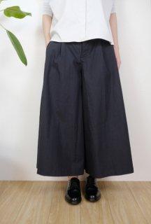 the last flower of the afternoon   永き日の wide pants (墨黒)   ボトムス【レディース きれいめ シンプル おしゃれ】