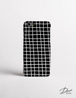 【ネコポス送料無料】DESSI DESIGNS | CROSS STRIPES / GRID (black) | iPhone 6ケース