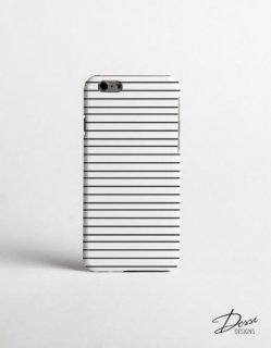 DESSI DESIGNS | BLACK AND WHITE STRIPES (small line) | iPhone 7/8ケース