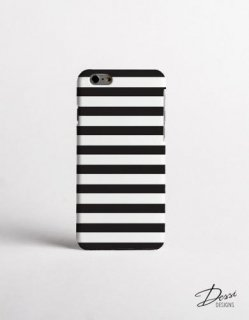 DESSI DESIGNS | BLACK AND WHITE STRIPES (large line) | iPhone 7ケース