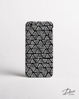 DESSI DESIGNS | MONOCHROME TRIANGLE (black) | iPhone 7/8ケース