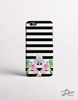 DESSI DESIGNS | TROPICAL FLOWERS | iPhone 7/8ケース