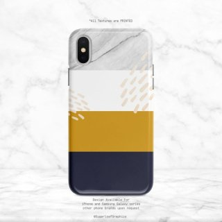 【ネコポス送料無料】SUGARLOAF GRAPHICS | NAVY YELLOW WHITE MARBLE | iPhone 11 proケース