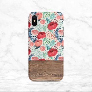 【ネコポス送料無料】SUGARLOAF GRAPHICS | RED MINT FLOWER | iPhone 11 proケース