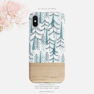 【ネコポス送料無料】SUGARLOAF GRAPHICS | WOODLAND GREEN PINE TREE | iPhone 11 pro maxケース