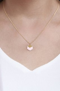Shlomit Ofir | Cube Necklace (light rose) | ネックレス