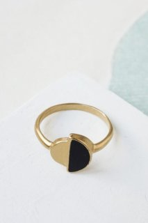 Shlomit Ofir | Contrast Ring (black) | リング