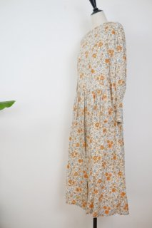 the last flower of the afternoon   末摘花のgather one-piece dress   ワンピース【きれいめ オシャレ 花柄 春夏】