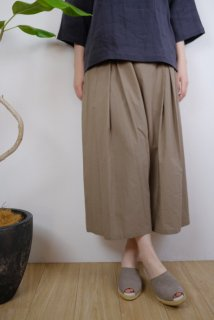 STAMP AND DIARY | ワイドキュロットパンツ (khaki beige) | ボトムス