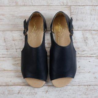 arome de muguet | レザーフラット ポーリー(black) | 23cm【送料無料 レディース 歩きやすい 履きやすい ブラック おしゃれ ナチュラル サンダル】