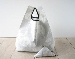 【ネコポス送料無料】ATELIER SETTEMBRE | TOTE BAG (gray flower) | トートバッグ/ショッピングバッグ