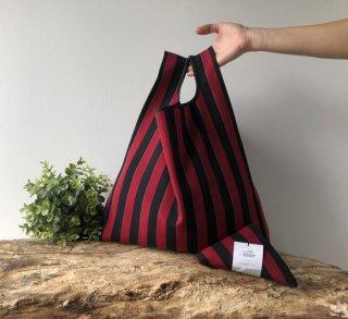 【ネコポス送料無料】ATELIER SETTEMBRE | TOTE BAG (red and black stripes) | トートバッグ/ショッピングバッグ
