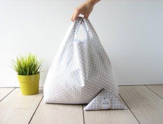 【ネコポス送料無料】ATELIER SETTEMBRE | TOTE BAG (beige / white polka dots) | トートバッグ/ショッピングバッグ