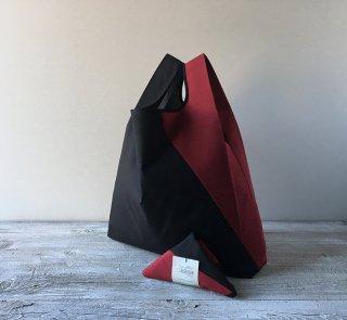 【ネコポス送料無料】ATELIER SETTEMBRE | TOTE BAG (black and red) | トートバッグ/ショッピングバッグ