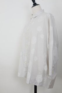 STAMP AND DIARY | シャツカラービッグブラウス 7分袖 (grey) | トップス
