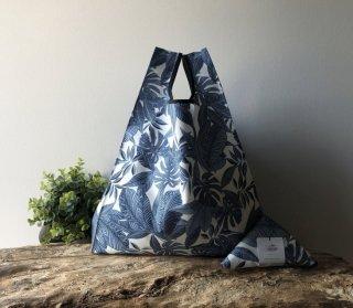 【ネコポス送料無料】ATELIER SETTEMBRE | TROPICAL FLOWER TOTE BAG (blue) | トートバッグ/ショッピングバッグ【お買い物バッグ エコバッグ】