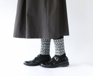 French Bull (フレンチブル) | ノルディックレッグウォーマー (グレー) | ソックス【シンプル 可愛い 靴下】