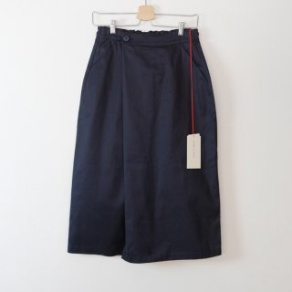 STAMP AND DIARY | ラップ風スカート (navy) | ボトムス