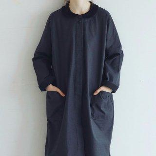 MAGALI   コットンギャバジン・ピエ ドゥ プル・コート (charcoal & black)   アウター