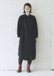 Cion   コットンワイドロングシャツ (ブラック)   トップス【送料無料 ワンピース ロングシャツ コットン】