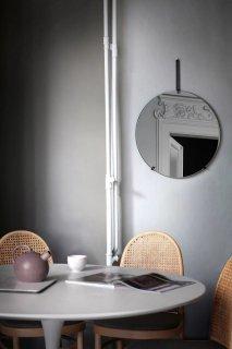 MOEBE | WALL MIRROR (black) | 50cm | ウォールミラー/鏡【北欧 ムーベ リビング インテリア】