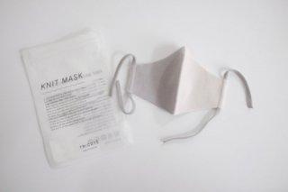 Tricote | バイカラーニットマスク 大人用 (light gray) | Lサイズ【オシャレ ギフト お出かけ】