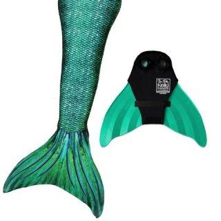 マーメイドテール&モノフィンセット Siren Green 005
