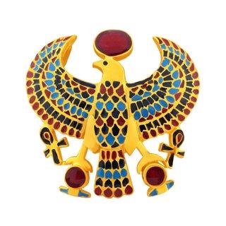 聖なるハヤブサのペンダント gold