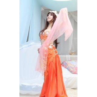ベリーダンスドレス Orange 032001