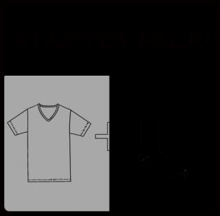 Starter Pack T-SHIRT(gray)& SOX(black)